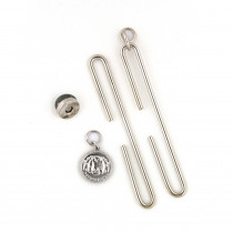 "Studio Mio Slide Clasp with Magnetic Snap 10cm (4"") Silver"
