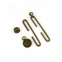 "Studio Mio Slide Clasp with Magnetic Snap 7cm (2-3/4"") Antique Brass"