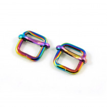 "Emmaline Bags Slide Adjusters 12mm (1/2"") Iridescent Rainbow - 2pk"