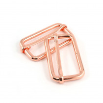 "Emmaline Bags Slide Adjusters 40mm (1-1/2"") Copper (Rose Gold) - 2pk"