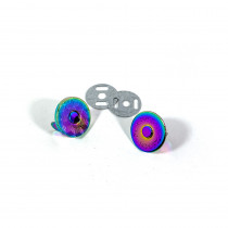 "Voodoo Bag Hardware Magnetic Catch Slim 18mm (3/4"") Iridescent Rainbow - 1pk"