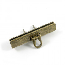 Emmaline Bags Small Bar Lock with Flip Closure Antique Brass