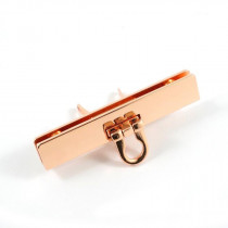 Emmaline Bags Small Bar Lock with Flip Closure Copper