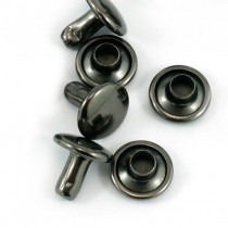 Emmaline Bags Metal Double-Capped Rivets Gunmetal 8mm x 6mm - 50 sets