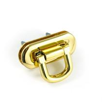 Emmaline Bags Oval Flip Lock Gold