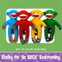 Shelby (no) Sock Monkey Soft Toy Sewing Pattern by Funky Friends Factory