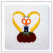 "Stitch 12"" Appliqué Block Sewing Pattern by Hissyfitz Designs"