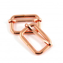 "Emmaline Bags Slide Adjusters 25mm (1"") Copper (Rose Gold) - 2pk"