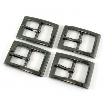 "Emmaline Bags Buckle w/ Center Bar 20mm (3/4"") Gunmetal - 4pk"