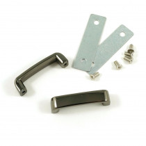 "Emmaline Bags Strap Keeper 25mm (1"") Gunmetal - 2pk"