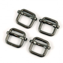 "Emmaline Bags Slide Adjusters 12mm (1/2"") Gunmetal Black - 4pk"