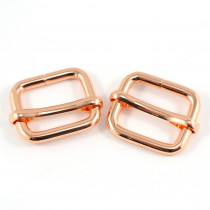 "Emmaline Bags Slide Adjusters 20mm (3/4"") Copper (Rose Gold) - 2pk"
