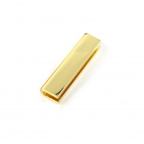 "Emmaline Bags Strap End Cap Rectangular 40mm (1-1/2"") Gold - 4pk"