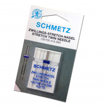 Schmetz Stretch Twin (Jersey) Sewing Machine Needle 4.0/75