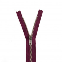 "YKK Metal Zipper Burgundy 14"" - 22"" by Riley Blake Designs"