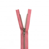 "YKK Metal Zipper Coral 14"" - 22"" by Riley Blake Designs"