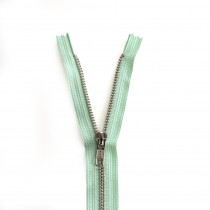 "YKK Metal Zipper Mint 14"" - 22"" by Riley Blake Designs"