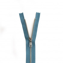 "YKK Metal Zipper Teal 14"" - 22"" by Riley Blake Designs"