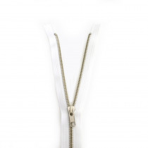 "YKK Metal Zipper White 14"" - 22"" by Riley Blake Designs"