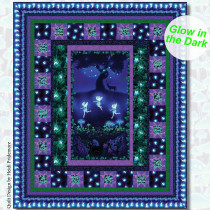 Summer Night Soiree Glow in the Dark Quilt Kit