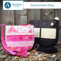 Summertime Sling Bag Sewing Pattern by Andrie Designs