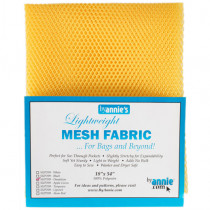 Mesh Fabric Light Weight - Dandelion Yellow from by Annie