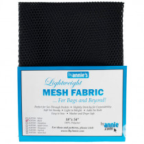 Mesh Fabric Light Weight - Black from by Annie