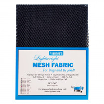 "Mesh Fabric Light Weight 18"" X 54"" (46cm x 137cm) - Navy Blue from by Annie"