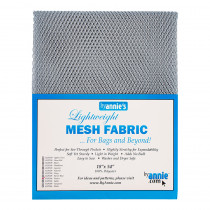 "Mesh Fabric Light Weight 18"" X 54"" (46cm x 137cm) - Pewter Grey from by Annie"