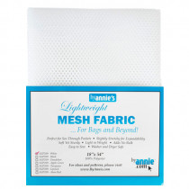 Mesh Fabric Light Weight - White from by Annie