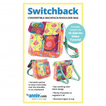 Switchback Convertible Backpack/Shoulder Bag Sewing Pattern byAnnie