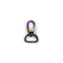 "Voodoo Bag Hardware Swivel Snap Hook 20mm (3/4"") Iridescent Rainbow 2pk"