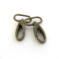 "Voodoo Bag Hardware Swivel Snap Hook 25mm (1"") Antique Brass - 4pk"