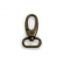 "Voodoo Bag Hardware Swivel Snap Hook 25mm (1"") Antique Brass - 2pk"