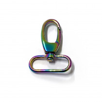"Voodoo Bag Hardware Swivel Snap Hook 40mm (1-1/2"") Iridescent Rainbow 2pk"