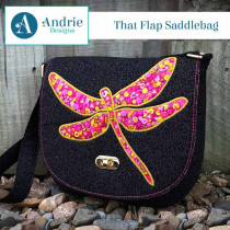 That Flap Saddlebag Sewing Pattern by Andrie Designs