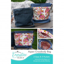 The Aspen Crossbody Bag Sewing Pattern by Emmaline Bags