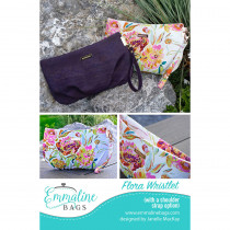The Flora Wristlet Sewing Pattern by Emmaline Bags