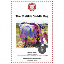 The Matilda Saddlebag Sewing Pattern by Little Moo Designs