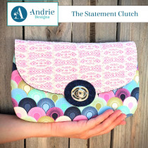 The Statement Clutch Sewing Pattern by Two Pretty Poppets