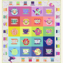 Tula Pink Curiouser & Curiouser Mad Hatter Tea Party Quilt Kit