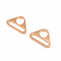 "Emmaline Bags Flat Triangular Ring 25mm (1"") Copper (Rose Gold) - 2pk"