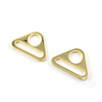 "Emmaline Bags Flat Triangular Ring 25mm (1"") Gold - 2pk"