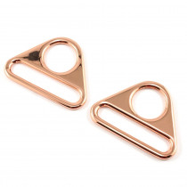 "Emmaline Bags Flat Triangular Ring 40mm (1-1/2"") Copper (Rose Gold) - 2pk"