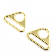 "Emmaline Bags Flat Triangular Ring 40mm (1-1/2"") Gold - 2pk"