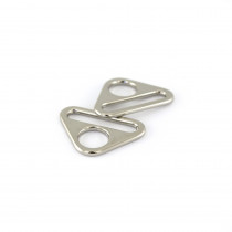 "Voodoo Bag Hardware Flat Triangular Ring 25mm (1"") Silver - 4pk"