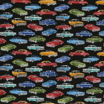 Mini Classic Cars Black by Timeless Treasures