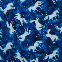 Galactic Unicorns Cobalt by Timeless Treasures