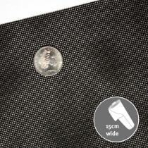Vinyl Bag Mesh Black 15cm Wide