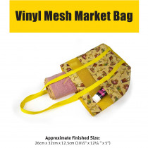 Vinyl Mesh Market Bag Sewing Pattern by Voodoo Rabbit Fabric